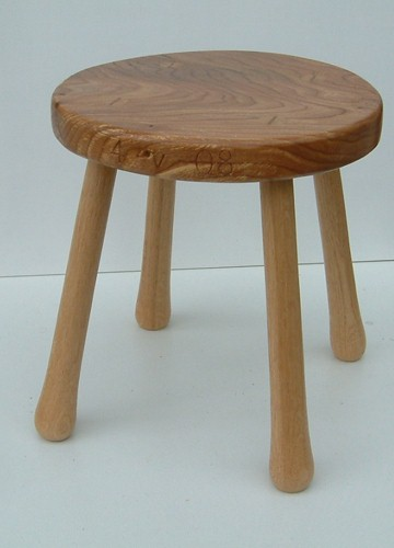 Hand made wooden stool