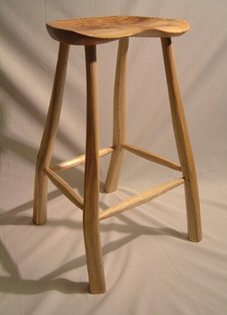 Chestnut stool with elm seat